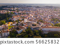 Rooftops of stone houses in Santarem 56625832
