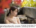 บ่อน้ำพุร้อนเปิดโล่งในฤดูใบไม้ร่วงเพศหญิงปล่อยฉากอาบน้ำ 56626967