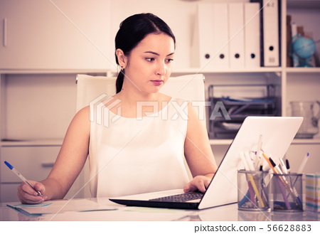 Woman working in office 56628883