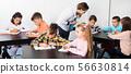 classroom, children, teacher 56630814