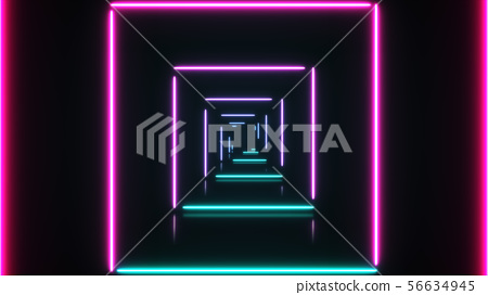Abstract background with neon squares. 56634945