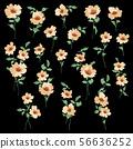 아름다운 벡터 꽃 소재 56636252
