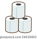 衛生紙圖標線描 56636802