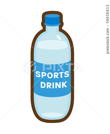 Sports drink icon line drawing 56636813