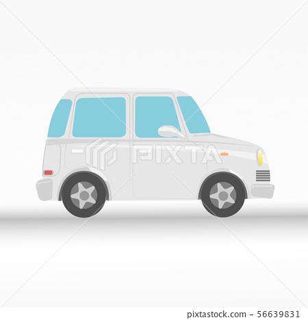 White eco car on white background vector 56639831