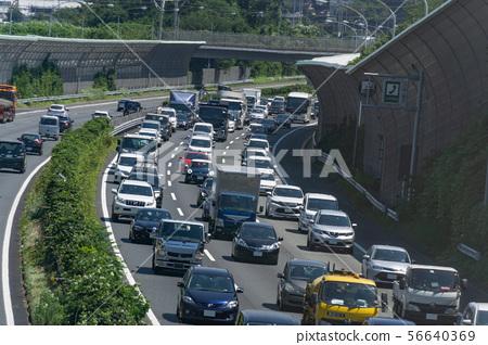 交通堵塞圖像公路 56640369