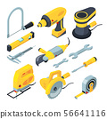 Isometric tools for construction. Vector 3d illustrations 56641116