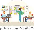 Team leader make planning tasks on the board 56641875