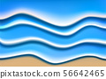blue water wave on the sand beach 56642465