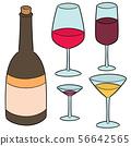 vector set of wine 56642565