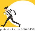 thief in a mask character with robber bag 56643459
