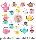 teapots and cups collection 56643562