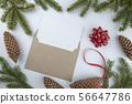 Christmas framework with evergreen fir tree 56647786