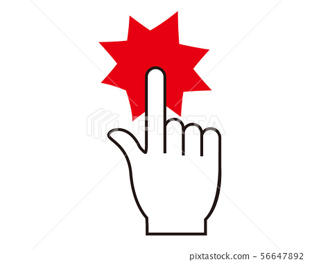 Finger click hand hand hand sign icon 56647892