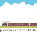 火車和藍天框架 56648102