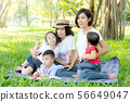 Beautiful young asian parent family portrait 56649047