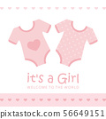 its a girl welcome greeting card for childbirth with bodysuit 56649151