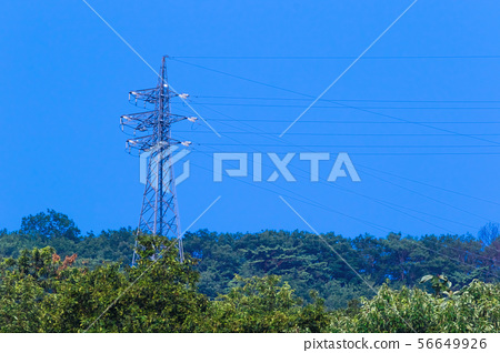 Power transmission tower mountain 56649926