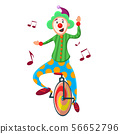 Funny, cute colorful clown  56652796