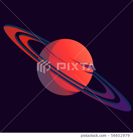 Planet. Round ball with rings 56652979