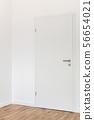 Closed white door 56654021