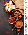 Cocoa beans, powder and cocoa butter 56654217