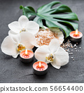 Natural spa ingredients with orchid flowers 56654400