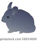 little mouse, gray color Fluffy pet 56654606