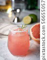 paloma cocktail with grapefruite on marble 56655057