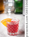 classic negroni on marble background 56655068