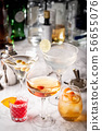 collection of classic cocktails, negroni, old 56655076