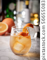 cocktail, old fashioned with orange peel 56655083