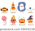 Funny Halloween trick or treat mascot characters 56656238