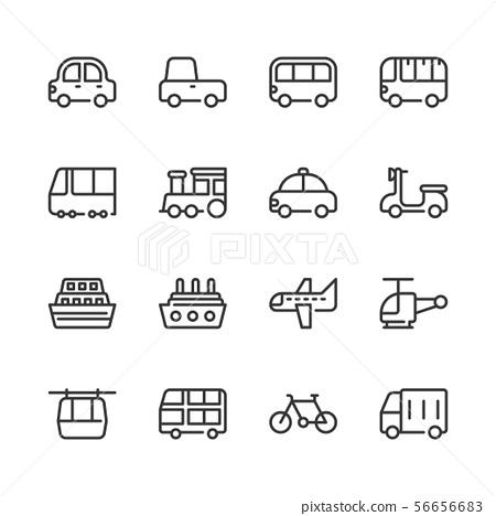 Transportation icon set.Vector illustration 56656683