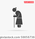 Old woman walking with cane. Grandmother character 56656736