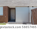 Exterior view of modern townhouses with brick 56657465