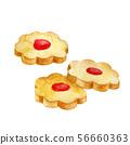 Three round cookies 56660363