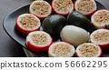 한국의 전통음식 송편과 사탕 56662295