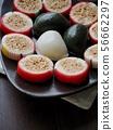 한국의 전통음식 송편과 사탕 56662297