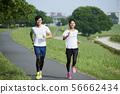달리기 주자 남녀 56662434