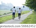 달리기 주자 남녀 56662452
