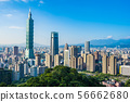 Beautiful landscape and cityscape of taipei 101 building and architecture in the city 56662680