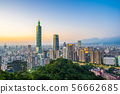 Beautiful landscape and cityscape of taipei 101 building and architecture in the city 56662685
