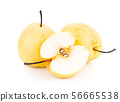 pears isolated on white background. Chinese pear 56665538