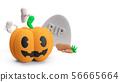 pumpkin jack 3d rendering for halloween concept. 56665664