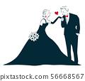 婚禮新娘和新郎 56668567