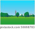 공원의 잔디 광장 56668783