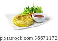 Omelette fried eggs pancake fusion Thai food style 56671172
