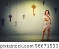 钥匙 女人 女性 56671533