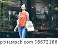 쇼핑 젊은 여성 라이프 스타일 56672186
